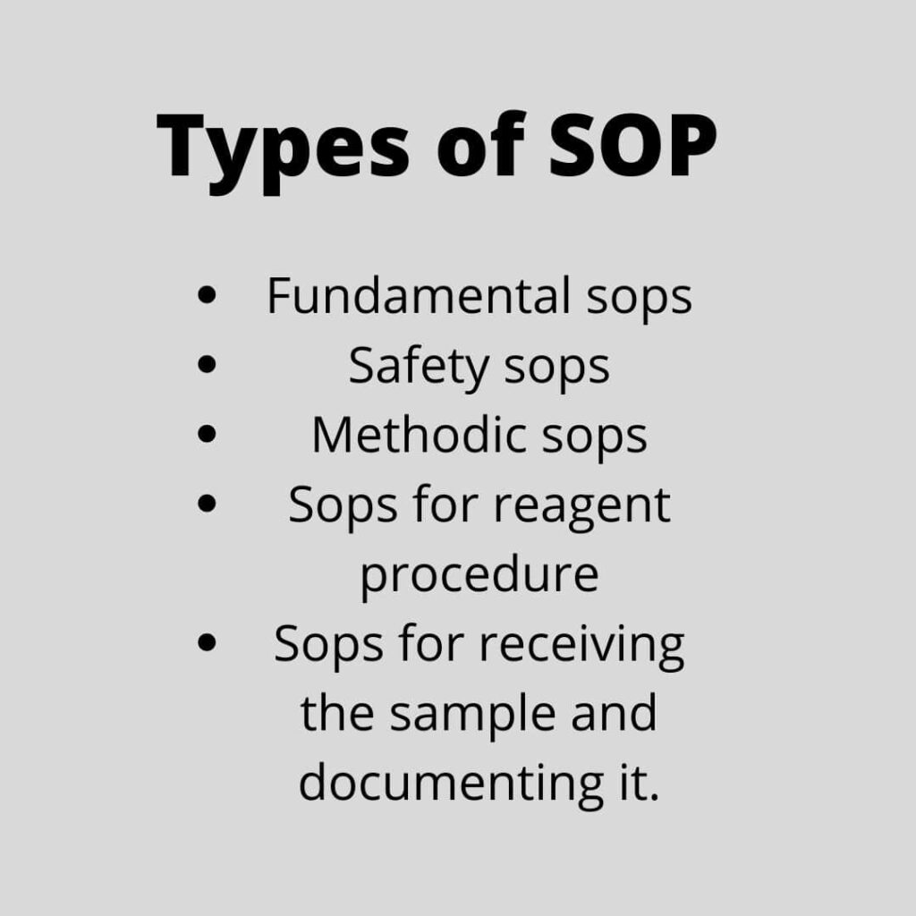 Types of SOP