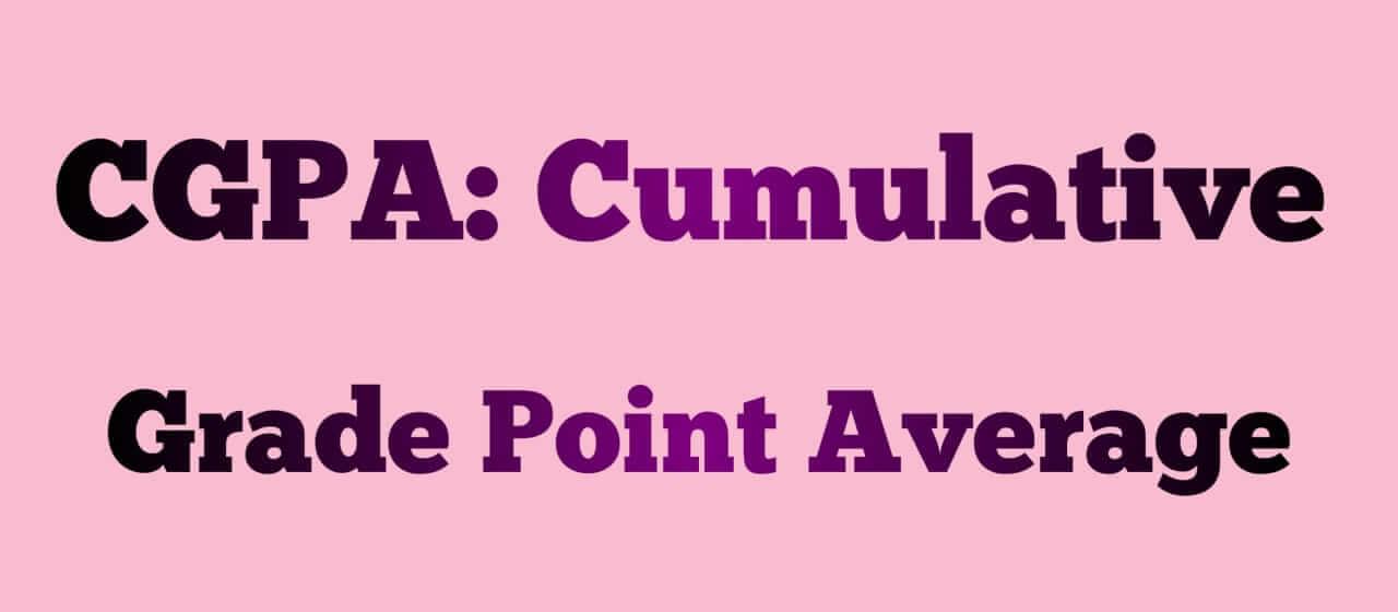 CGPA Full Form