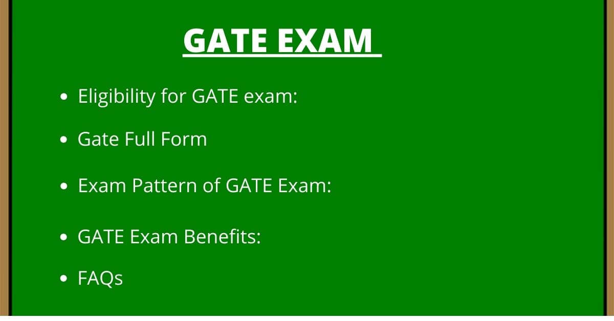 GATE FULL FORM