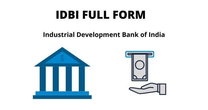 IDBI FULL FORM