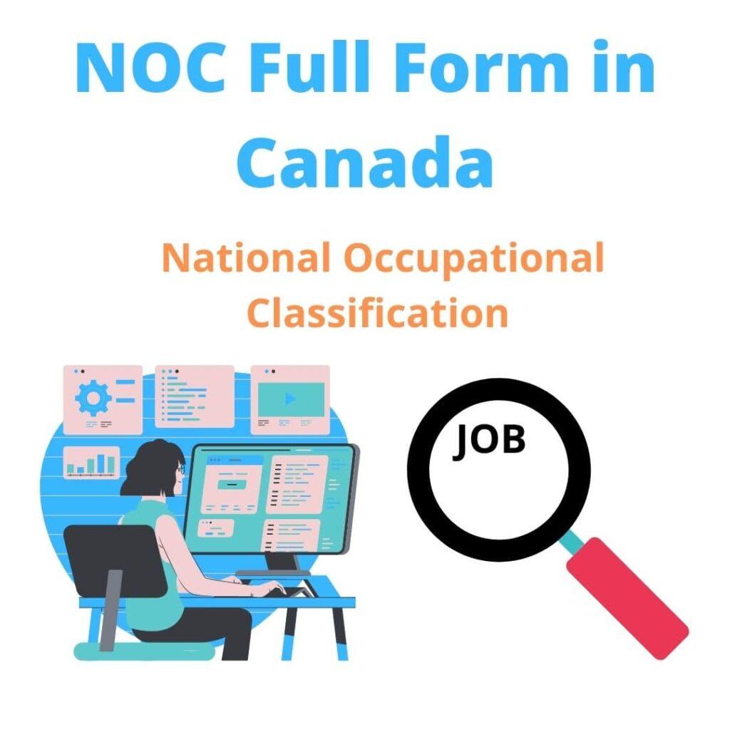 NOC Full Form in Canada