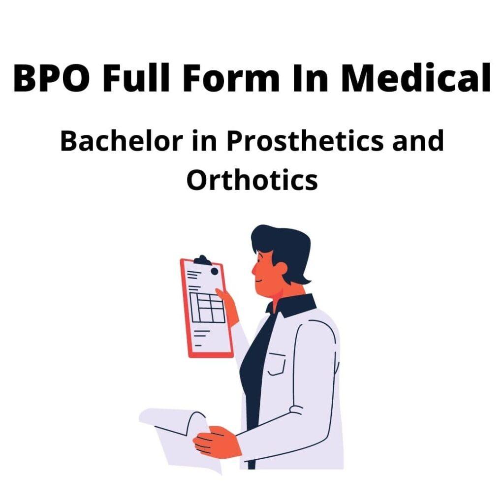 BPO Full Form in Medical