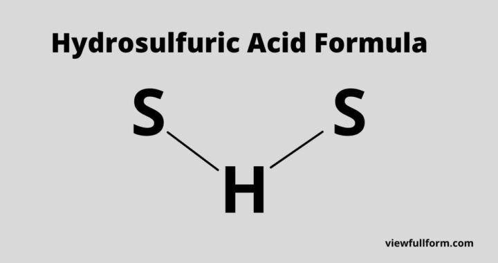 Hydrosulfuric Acid Formula